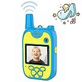 Walkie Talkie Niños Cámara Fotos Niños 1080P Lentes duales 8 Megapíxeles con Walkie Talkie para Niños de Largo Alcance Multifunción Walkie Talkie Recargable Camara de Fotos para Niños