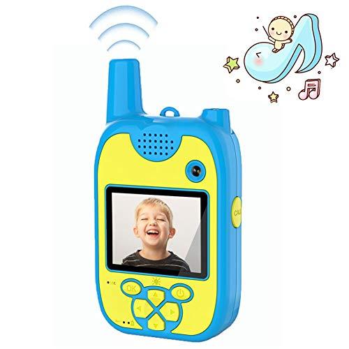 Walkie Talkie Kinder Kinderkamera 1080P Dual-Objektive 8 Megapixel mit Langstrecken Walkie Talkies für Kinder Kinder Kamera Aufladbare Multifunktions Geeignet für Aktivitäten im Innen und Außenbereich