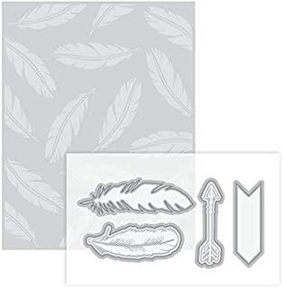 Feather Embossing Folder & Dies By Recollections - 2 Feathers & 2 Arrows