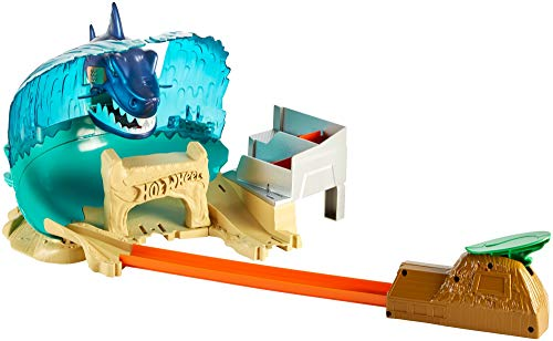 Hot Wheels - Pista de coches Tiburón Megadestrucción - (Ma