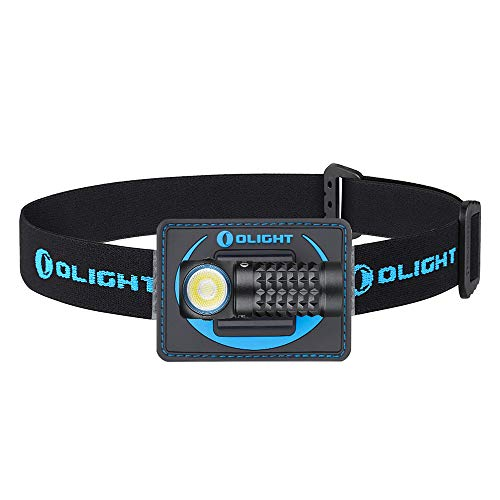 OLIGHT Perun MINI 1000 Lumens Multi-functional Illumination Tool Reliable Right Angle Headlamp with Headband, Magnetic Rechargeable EDC Flashlight for Camping, Mountaineering, Night Fishing and Riding