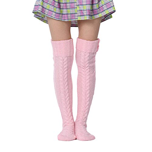 Womens Thigh High Woollen Socks