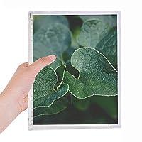 暗い葉植物の性質 硬質プラスチックルーズリーフノートノート