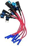 MCIGICM 10Pcs 12V Car Add-a-Circuit Fuse TAP Adapter Mini ATM APM Blade Fuse Holder