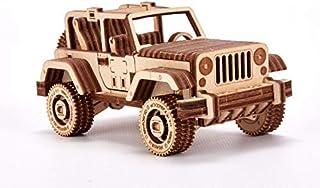 Wood Trick ウッドトリック サファリカー / 動かして遊べる3Dウッドパズル / 木製模型