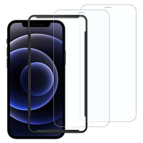 Xingmeng [2枚入り] iPhone 12 mini ガラスフィルム 5.4 インチ 用 全面 保護フィルム 強化 飛散防止 指紋防止 気泡防止 撥水撥油 旭硝子9H 高透明率 2.5Dラウンドエッジ 貼付道具付