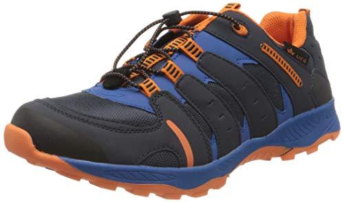 Lico FREMONT Jungen Trekking- & Wanderhalbschuhe, Marine/ Blau/ Orange, 41 EU