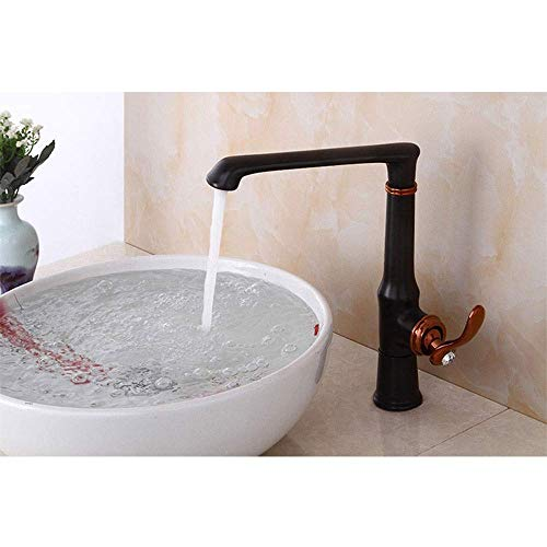 DIESZJ Fácil de Instalar Baño de Estilo Europeo Grifo de Agua fría y Caliente Un Solo Orificio Manija Simple Simple y Hermoso En línea con el Estilo Europeo y Americano