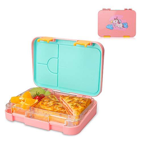NEEGO Fiambrera Infantil 4 compartimentos Fiambrera Niños Libre BPA F
