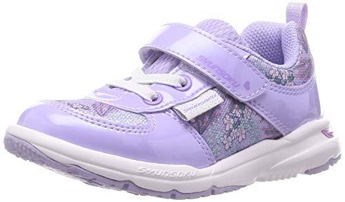 [シュンソク] スニーカー 運動靴 軽量 15~19cm 2E キッズ 女の子 LEC 6810 ラベンダー 18 cm