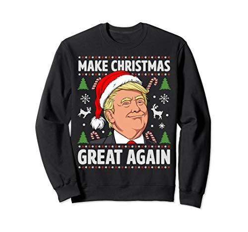 Make Christmas Great Again Funny Trump Ugly Christmas Men Sweatshirt