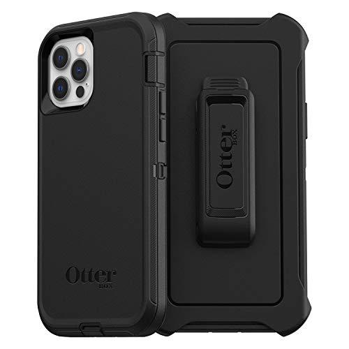OtterBox Defender - robuste, sturzsichere und 3-lagige Schutzhülle für Apple iPhone 12 / 12 Pro, schwarz