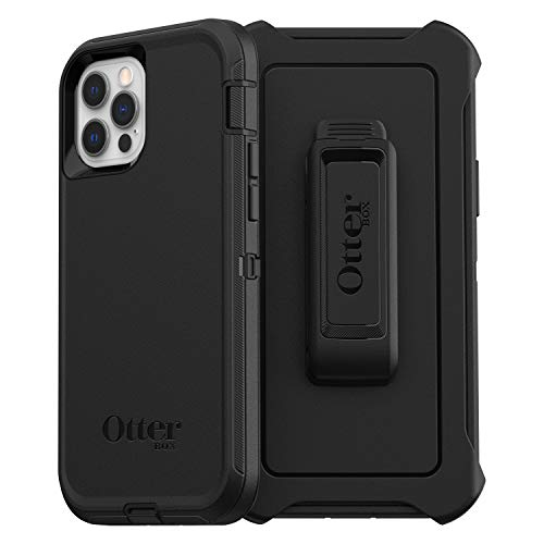 OtterBox Defender Series, Rugged Protection for Apple iPhone 12/12 Pro - Black
