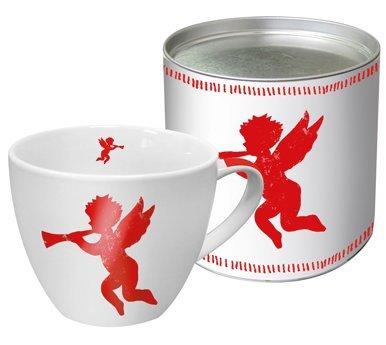 PPD Tasse en Porcelaine Blanc avec Ange Rouge avec boîte-Cadeau