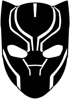 Marvel Comics Avengers Black Panther Head, Black, 8 Inch, Die Cut Vinyl Decal, For Windows, Cars, Trucks, Toolbox, Laptops, Macbook-virtually Any Hard Smooth Surface