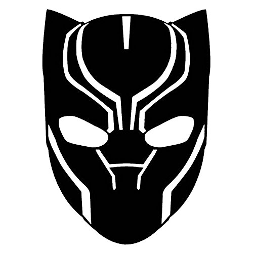 LCK Unique Design Marvel Comics Avengers Black Panther Head, Black, 6 Inch, Die Cut Vinyl Decal, for Windows, Cars, Trucks, Toolbox, Laptops, MacBook-virtually Any Hard Smooth Surface
