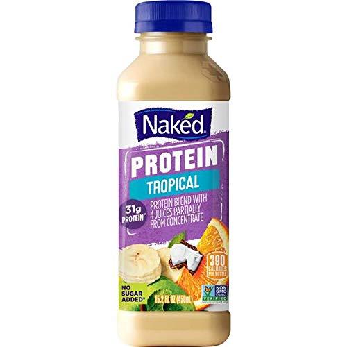 Evaxo Naked Juice Protein Tropical 15.2oz Plastic Bottle, 8 Per Case