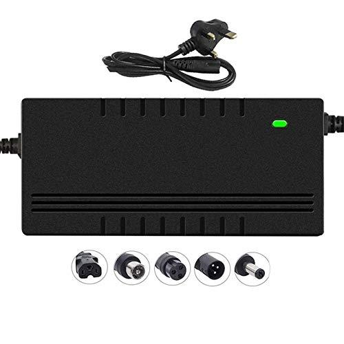 LIUPING Caricabatterie per Scooter Elettrico, (36V / 48V / 60V / 72V Opzionale) 3A Adattatore di Alimentazione, Carica Rapida, Spegnimento Automatico, Spina di Ricarica della Batteria al Litio