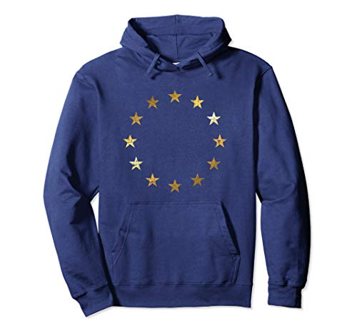 Pro EU Flagge (Vintage/Gelb) Stop Brexit Europa Pullover Hoodie