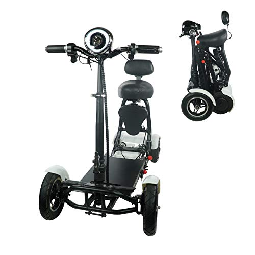 Lowest Price! Foldable Lightweight Li-on Battery Power Mobility Scooters Easy Travel Electric Wheelc...