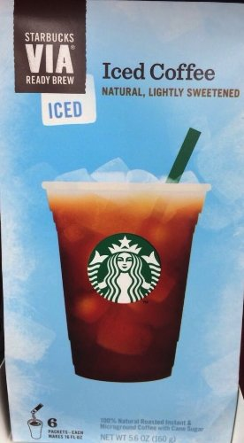 Starbucks Coffee Via Instant Coffee, Iced,6 Packets-Each