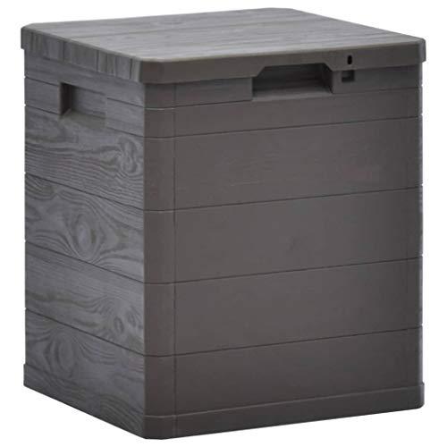 vidaXL Garten Aufbewahrungsbox 90 L Braun Kissenbox Gartenbox Auflagenbox Box