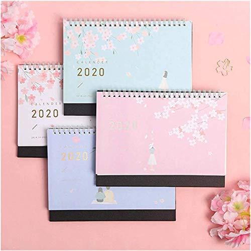 CALENDAR 2017 Calendarios 2021 Calendario Hermoso patrón de Cereza Papel de pie 2021 Doble Bobina Calendario Memo Daily Programar Tabla Planificador Anuario Agenda Organizador ZSMFCD