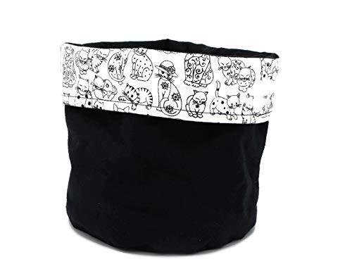 Playful Cats Print Rare Decorative Cloth Cotton San Jose Mall - Cat Bin Canvas