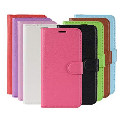 XunEda LG K40 Cover Custodia, Slim Flip Portafoglio in PU Pelle Custodia con Kickstand Bumper Protettiva Case Cover per LG K40 Smartphone (Rose)