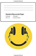 Standard Manuscript Paper: Music Makes Me Smile Blank Sheet Music (Musicians Notebook)