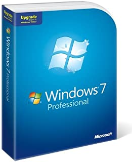 Microsoft Windows 7 Professional, Upgrade Edition for XP or Vista users (PC DVD), 1 User