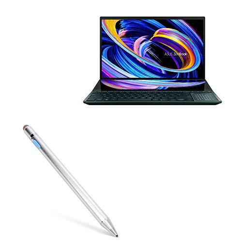 Caneta Stylus BoxWave para ASUS ZenBook Pro Duo 15 (UX582) [AccuPoint Active Stylus] Stylus eletrônica com ponta ultrafina para ASUS ZenBook Pro Duo 15 (UX582) - Prata metálica
