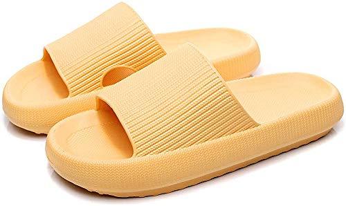 Pillow Slides Slippers, Massage Shower Bathroom Slipper, Non-Slip Open Toe Super Soft Thick Sole Sandals, EVA Platform Home Slippers for Women Men