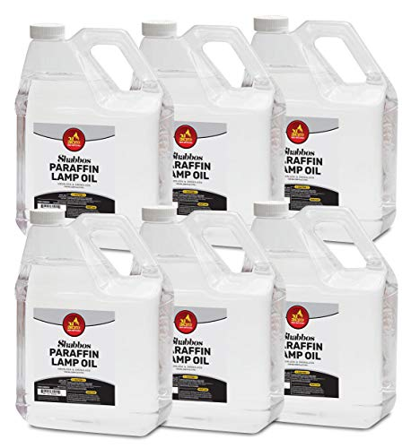 Ner Mitzvah 1 Gallon Paraffin Lamp Oil - Clear Smokeless, Odorless, Clean Burning Fuel for Indoor and Outdoor Use - Shabbos Lamp Oil - 6 Pack