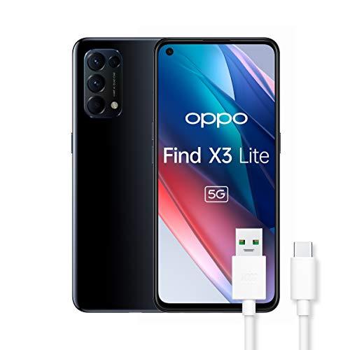 OPPO Find X3 Lite Smartphone 5G, Qualcomm 765G, Display 6.43'' FHD+AMOLED, 4 Fotocamere 64MP, RAM 8GB+ROM 128GB,...