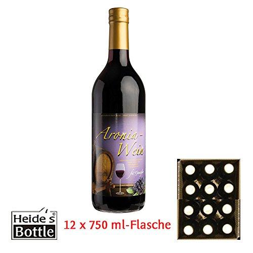Aronia-Wein 9,5% Alc, 12 x 0,75 l-Flasche - pfandfrei -