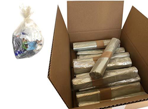 200 Sacchi trasparenti 70x110 immondizia raccolta differenziata, 20 rotoli da 10, Sacchi spazzatura grandi condominiali.