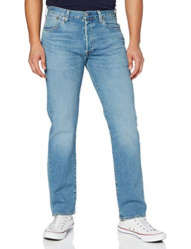Levi's 501 Original Fit Jeans, Ironwood Overt, 33W / 32L Uomo