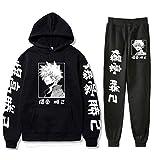 Vivimeng My Hero Academia Hoodies and Sweatpants Mens Womens Anime Cosplay Hooded Sweatshirts Tracksuits Suit (Black B,XL)