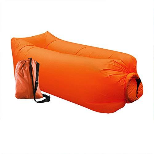 TSARLTD Inflatable Lounger Air Lazy Bed Sofa Lay Sack Hangout Camping Beach Bean Bag (ORANGE)