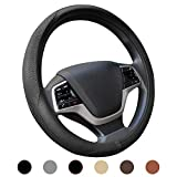Ylife Microfiber Leather Car Steering Wheel Cover, Universal 15 inch Breathable Anti Slip Auto Steering Wheel Covers (Beige)