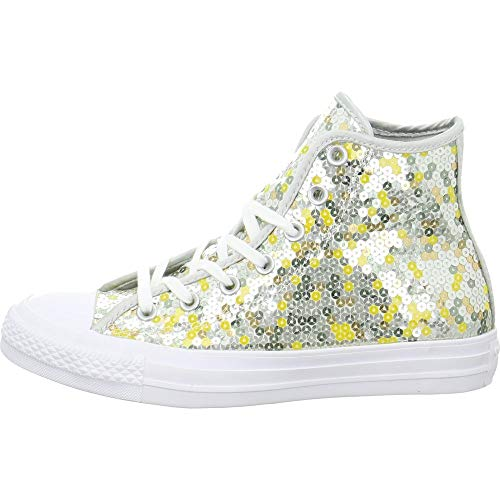 Converse Ctas Core Hi Unisex Sneakers, für Erwachsene, - Pure Silver Gold White - Größe: 41 EU