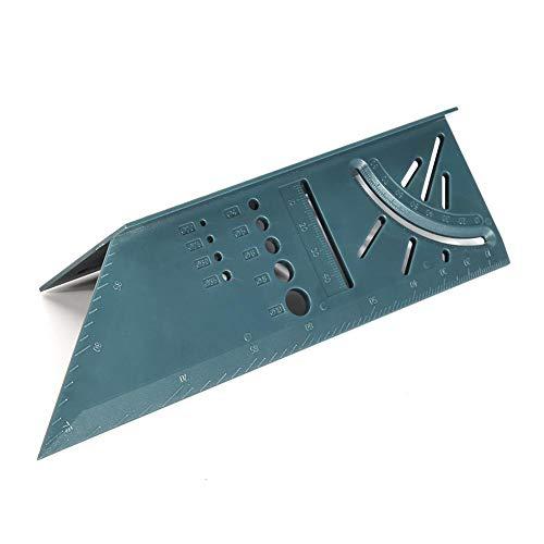 Escuadra 3D Carpintería Ángulo 3D Regla Woodcraft Trazador de medición de ángulos de inglete 3D, herramienta de medida de medidas de carpintería de plástico de 90 grados cuadrados con regla de calibre