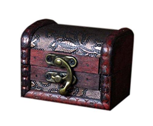 millésime et charmant caisson à bijoux en bois de cas cosmétique