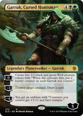 Magic: The Gathering - Garruk, Cursed Huntsman - Borderless - Throne of Eldraine