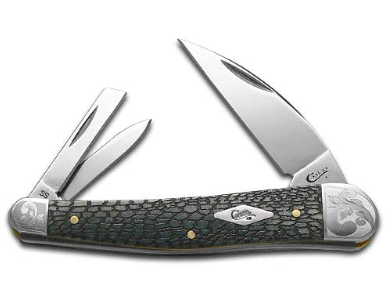 CASE XX Alligator Skin Gray Bone Scrolled Seahorse Whittler 1/200 Stainless Pocket Knife Knives