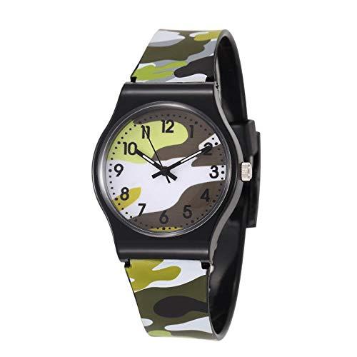 Reloj niño SFBBBO Relojes Impermeables para niños Reloj Deportivo de Cuarzo para niños Reloj Militar de Dibujos Animados para niños y niños