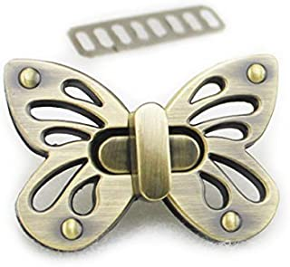 Bobeey 2sets Butterfly Purses Locks Clutches Closures with Butterfly Shape,Purse Twist Lock BBL2 (Brussed Brass)