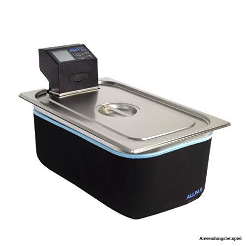 """DAS SOUS VIDE SV2 SPARSET\"""" von Allpax - Sous Vide Thermostat SV2 + Gastronorm Behälter GN 1/1 200 mm Tiefe + GN Deckel mit Ausschnitt + Isolierung für GN1/1 Behälter"""