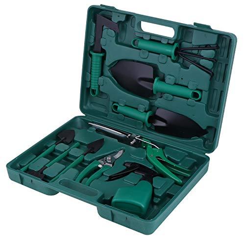 KEESIN Juego de herramientas de mano para jardín, kit de plantación, herramienta de trabajo de jardín, regalo para los amantes de los gradiadores (10 piezas)